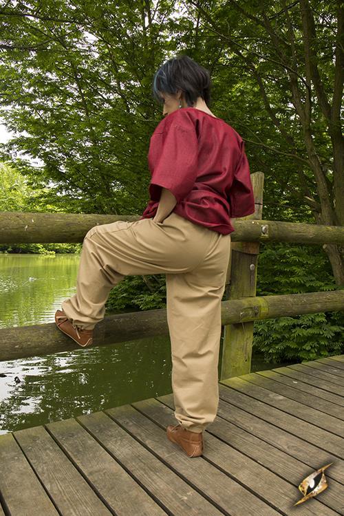 Pantalon paysan couleur sable M 3