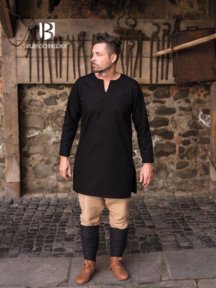 Tunique en coton non peigné en noir M 3