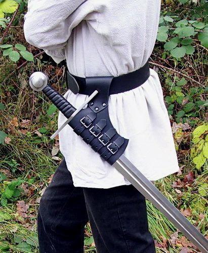 Support de ceinture pour épée noir 3