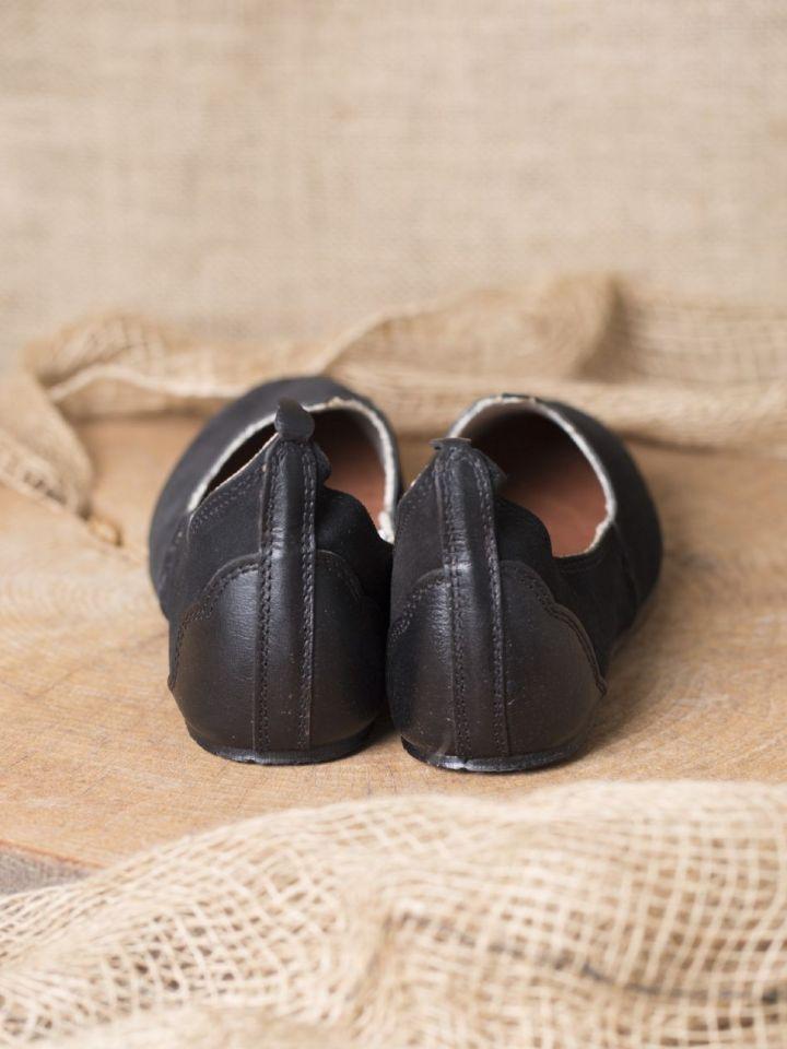 Chaussures médiévales, semelle en caoutchouc, noires 37 3