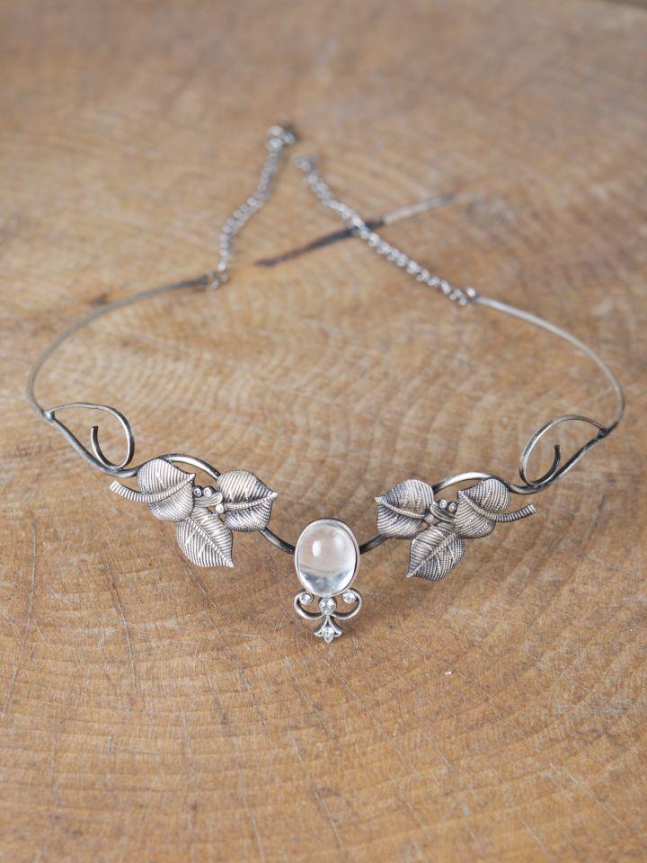 Couronne tiare avec perles blanche 3
