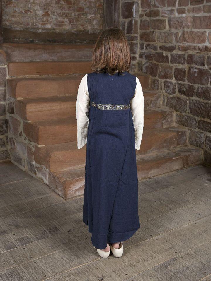 """Robe médiévale """"Piccolina"""" en bleu et écru 140/146 3"""