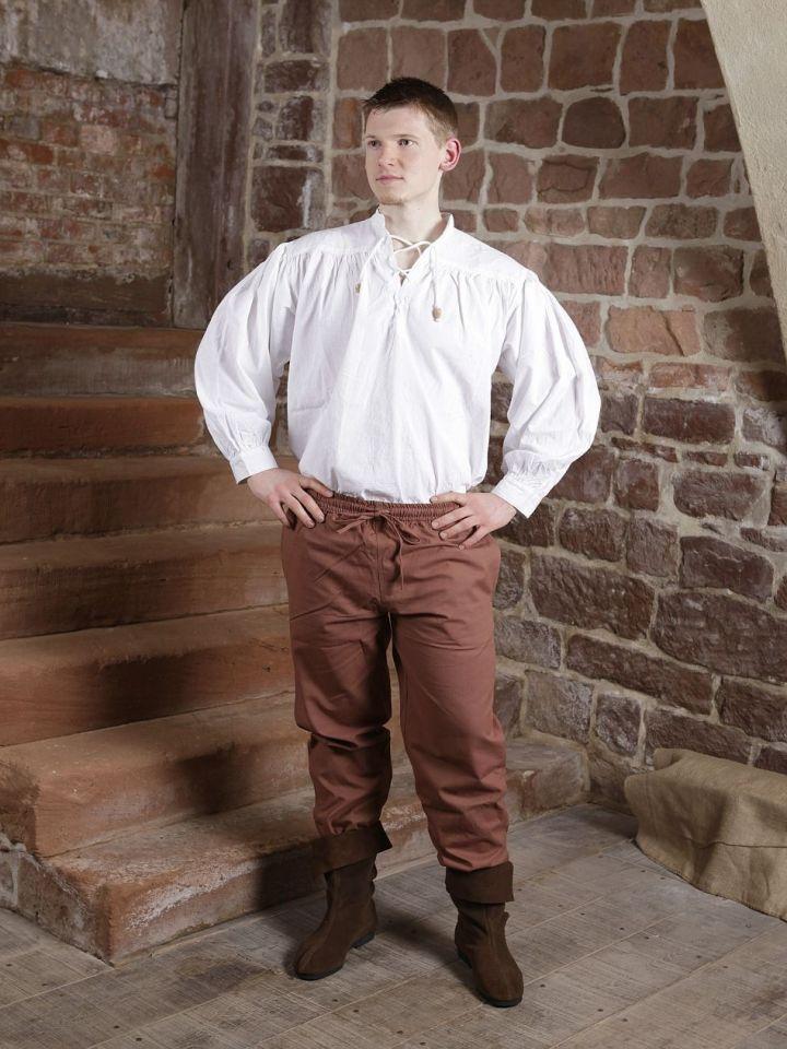 Pantalon médiéval en coton marron XXL 3