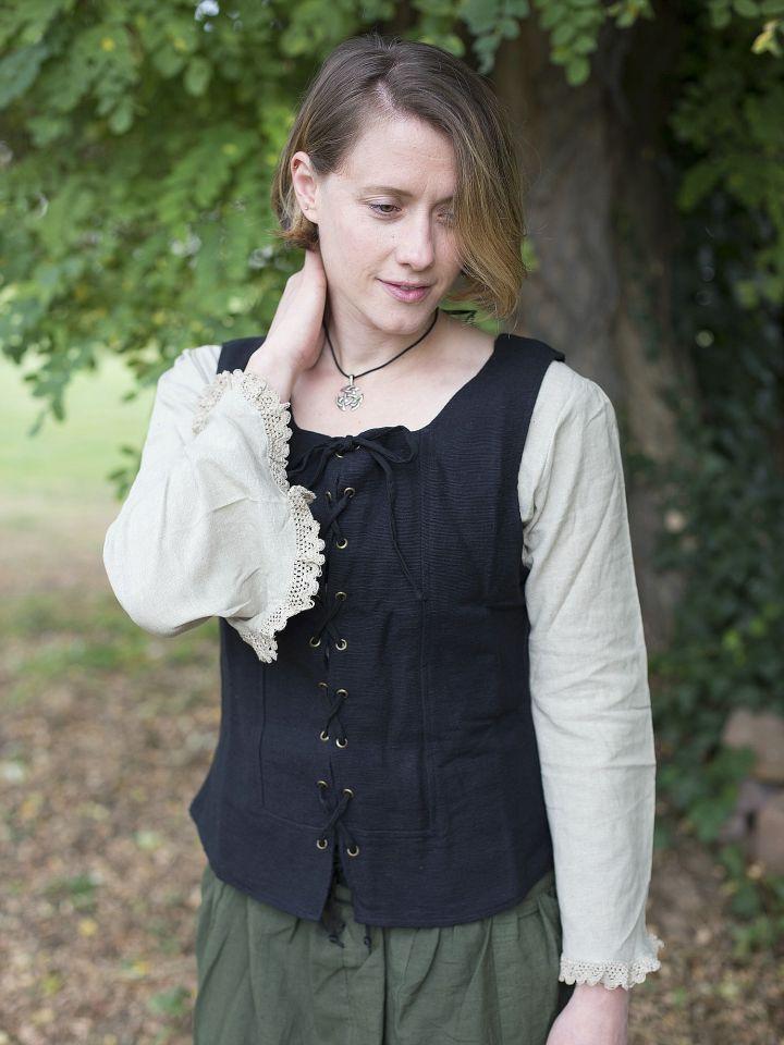 Gilet en coton épais, noir 3