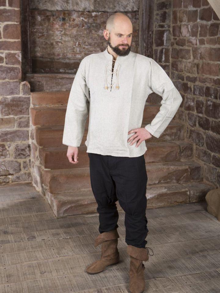 Chemise médiévale épaisse, en gris chiné XL 3