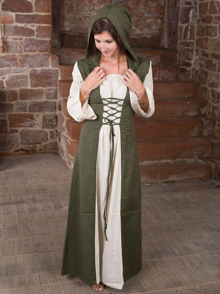 Robe médiévale à capuche S/M 3