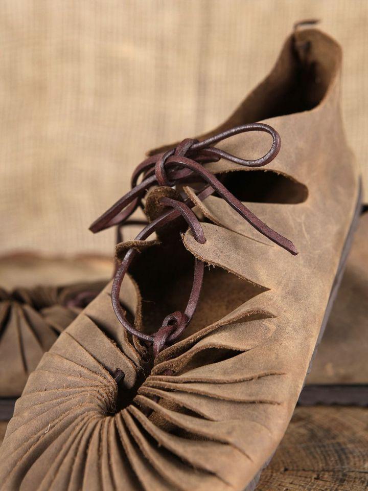 Ballerines médiévales en cuir avec semelle 43 | marron 3