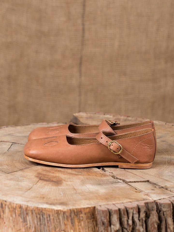 Chaussures médiévales tout cuir 3