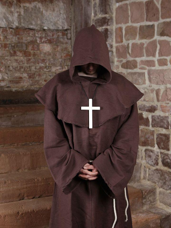 Habit de moine marron | avec croix 3