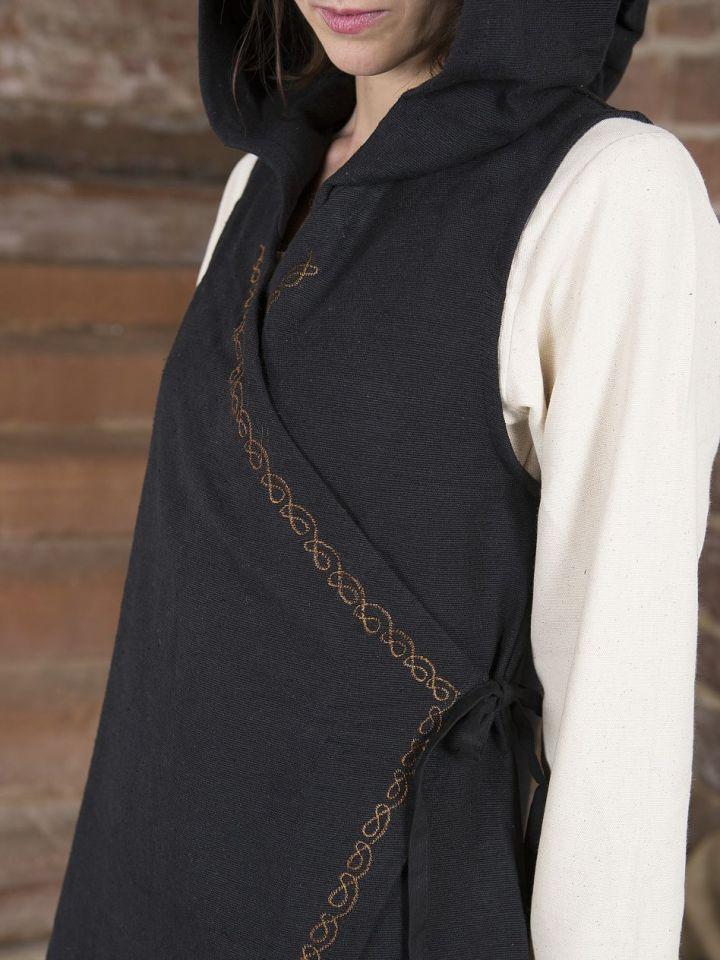 Robe portefeuille Dala en noir S/M 3