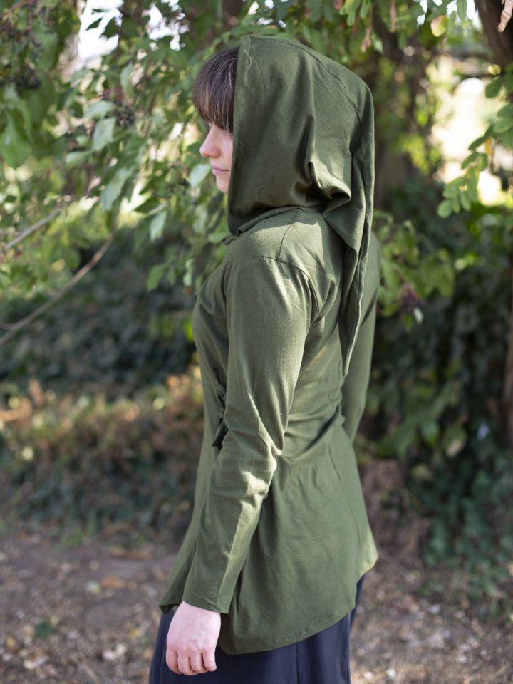 Blouse elfique en vert 3