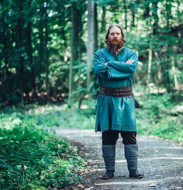 Tunique viking Einar en vert 3