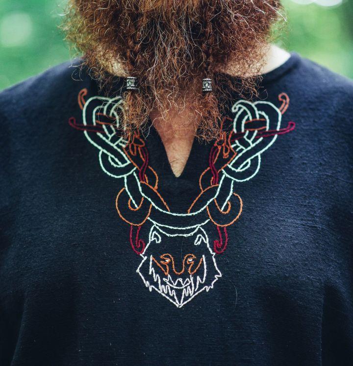 Tunique viking Fenrir noire 3