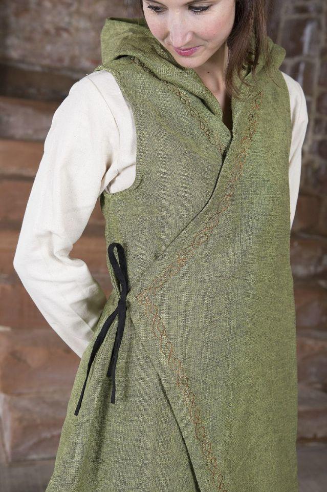 Robe portefeuille Dala en vert S/M 3