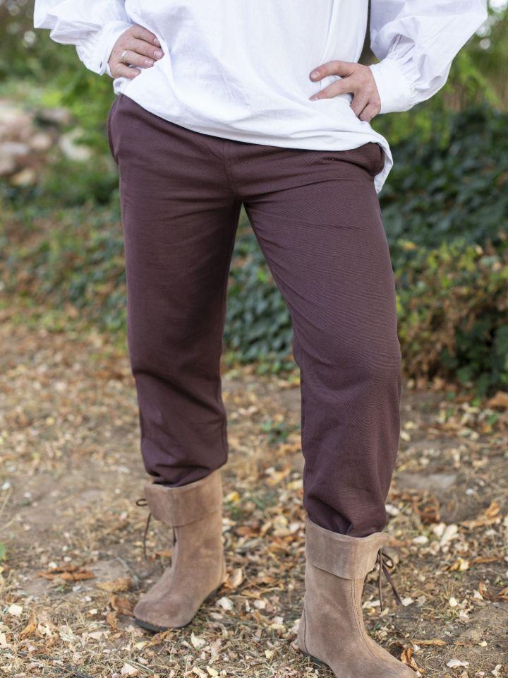 Pantalon médiéval serré aux chevilles, marron M 3