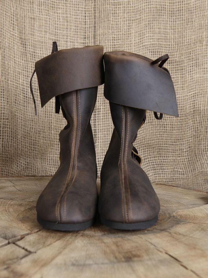 Bottines médiévales en cuir 46   noir 3