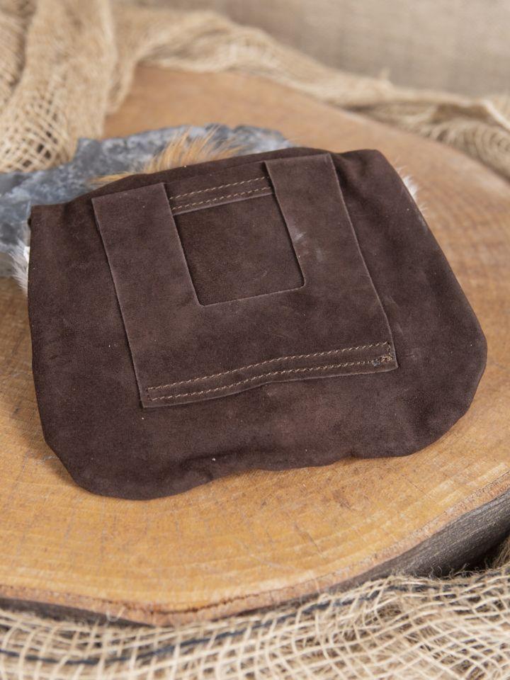 Sacoche de ceinture tête de renard, en brun 3