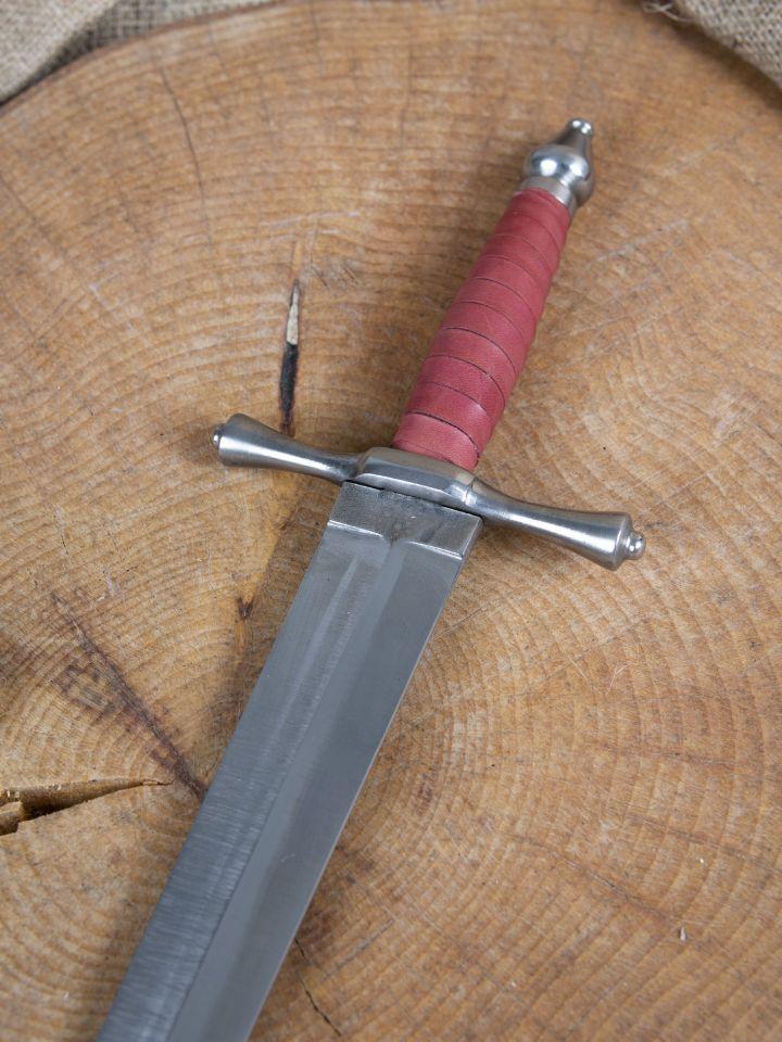 Dague forgée avec fourreau en cuir 3