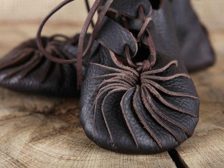 Ballerines médiévales en cuir 46 | marron 3