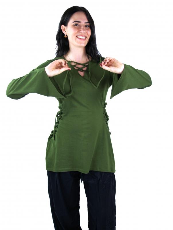Blouse elfique en vert XXL 3