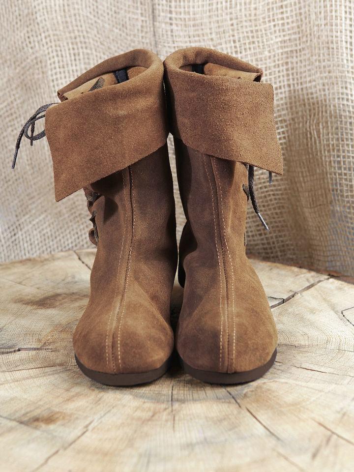 Bottines médiévales cavalières en daim 45 | marron 3