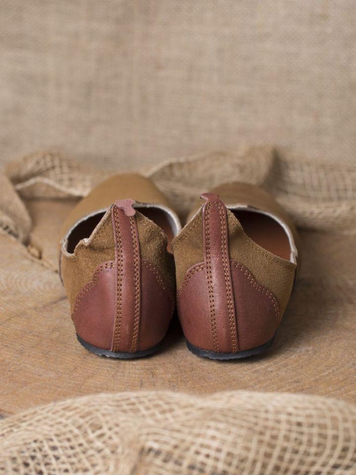 Chaussures médiévales, semelle en caoutchouc, marron 40 3