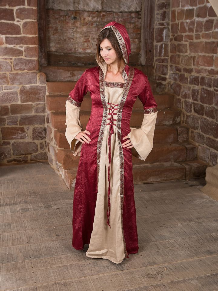 Robe médiévale avec capuche 3