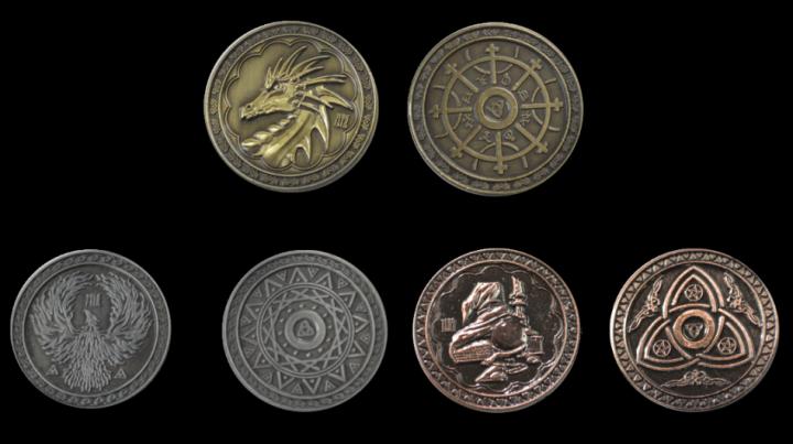 Pièces de monnaie GN Magie 3