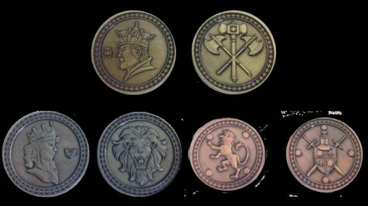 Pièces de monnaie GN Roi avec pochette en cuir 3