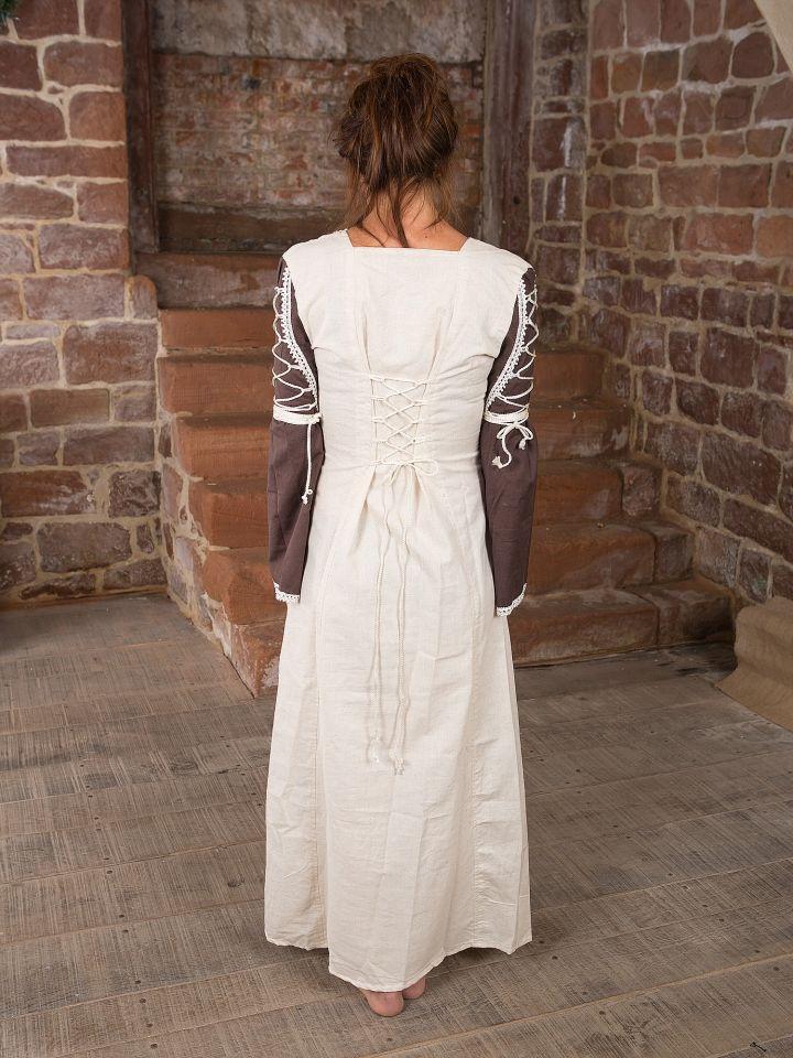 Robe médiévale Martha marron 3