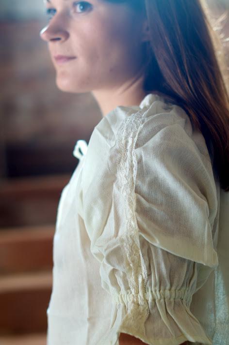 Blouse à manches courtes en blanc ou crème XL   blanc 3