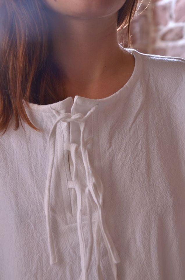 Blouse blanche à manches longues XL 3