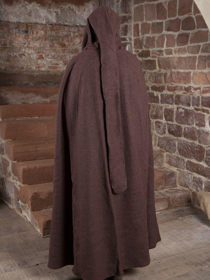 Manteau en laine à capuche en marron 3