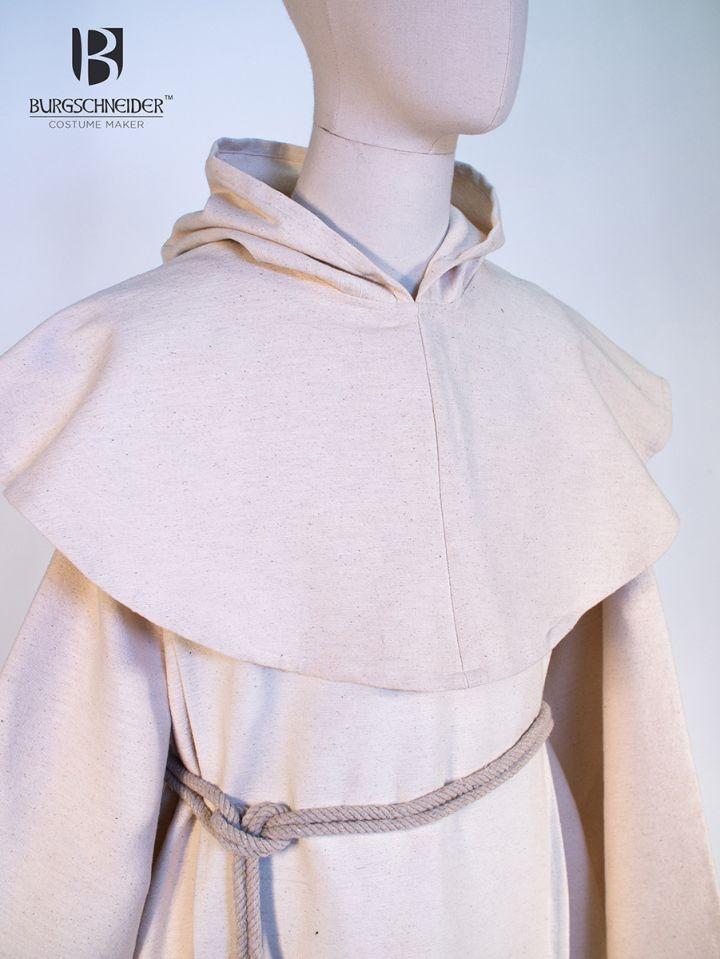 Habit de moine bénédictin en blanc écru 3