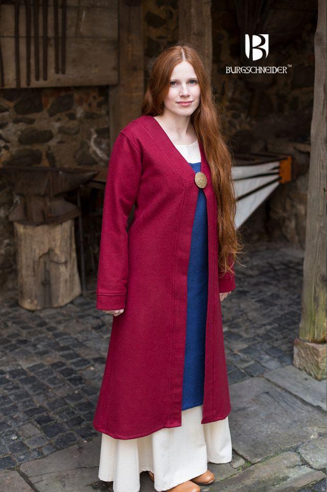 Manteau Viking Aslôg, en rouge 3