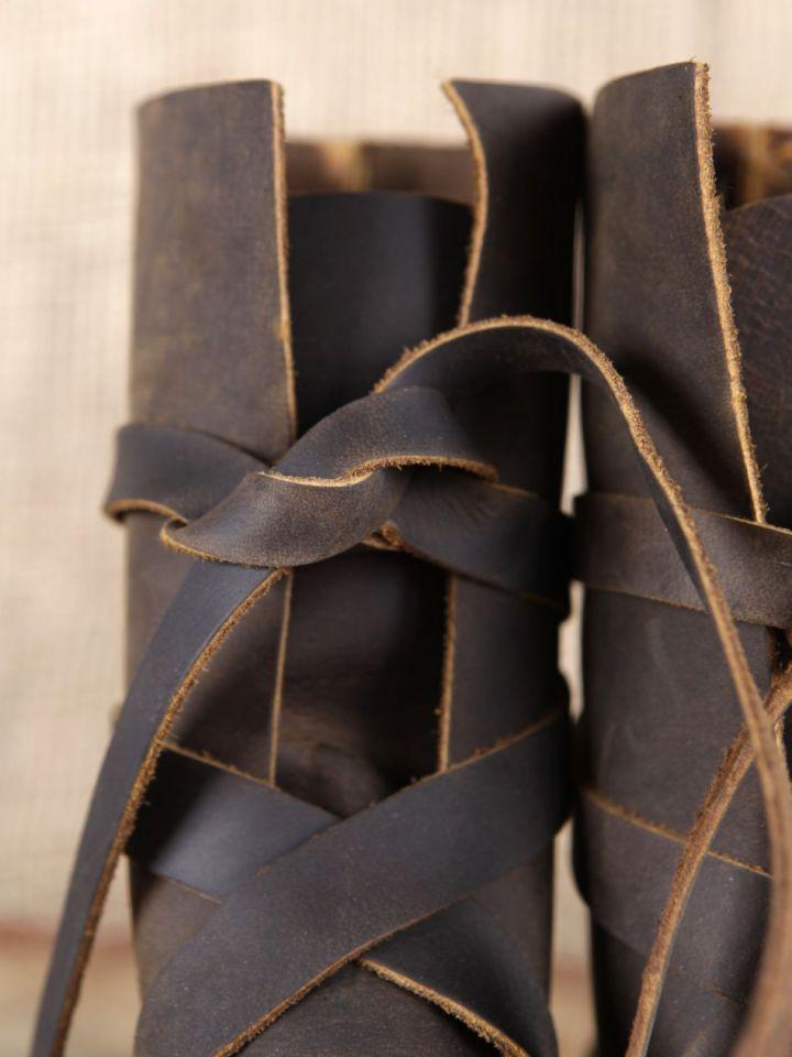 Bottines viking en cuir marron 41 3