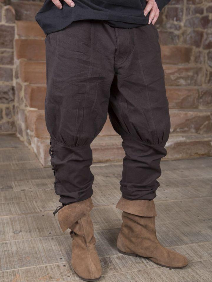 Pantalon en coton en marron XXL 3