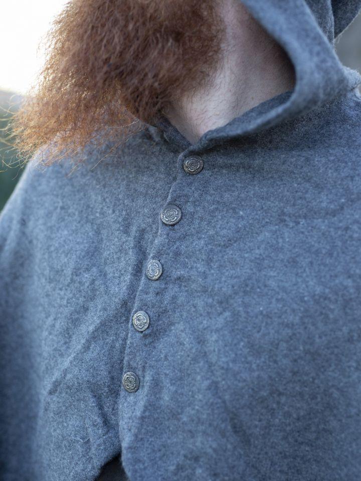 Cape avec boutons métalliques en gris 3