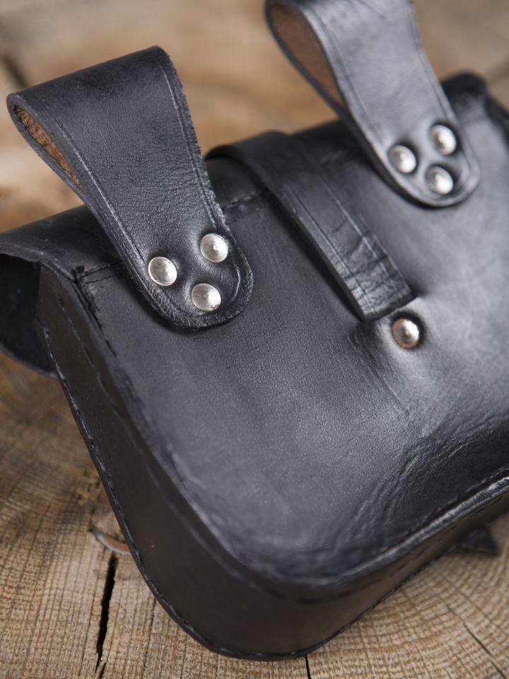 Sacoche de ceinture en cuir, noire 3
