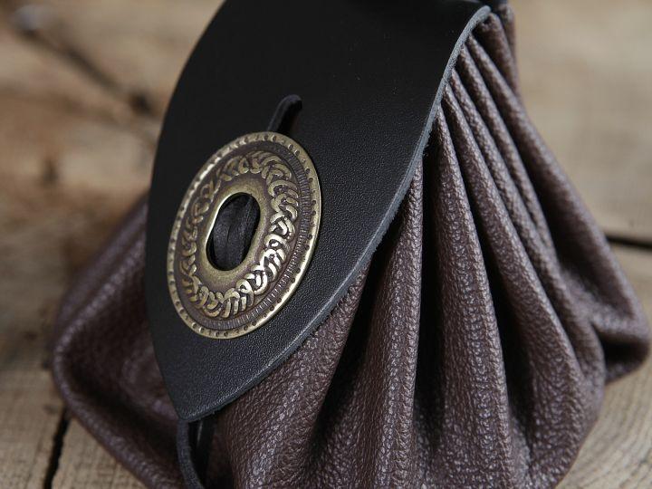 Bourse de ceinture en cuir marron 3