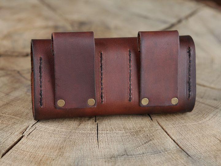 Sacoche de ceinture en cuir et ses cinq flacons 3
