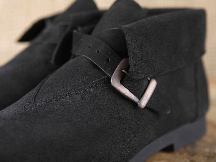 Chaussure en cuir chamoisé 40 | marron 3