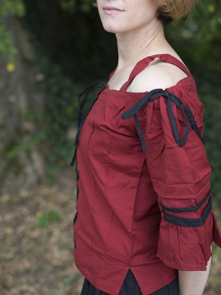 Blouse rouge / noire 3