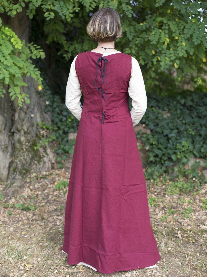 Robe médiévale sans manche en rouge S 3