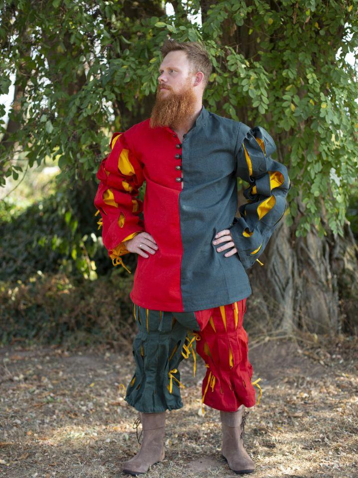 Pantalon fendu Lansquenet rouge et vert 3