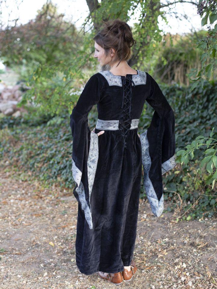 Robe médiévale Bourgogne, en noir 3
