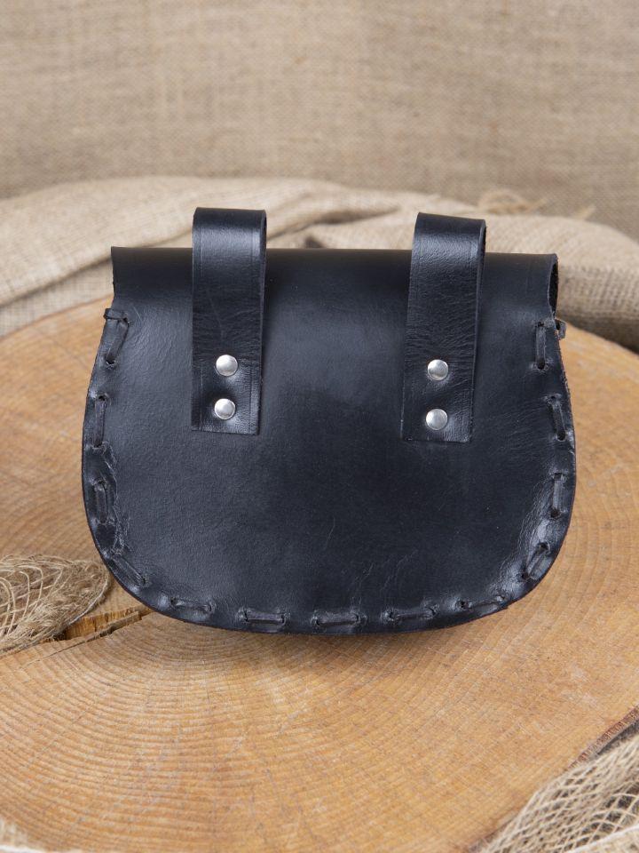 Sacoche de ceinture en cuir triskele en noir 3
