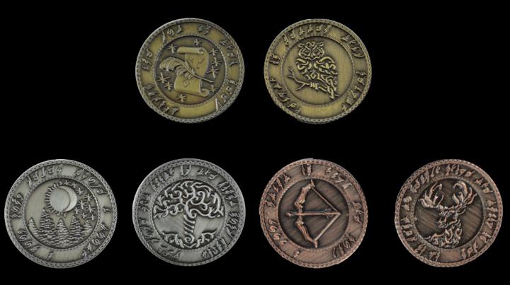 Pièces de monnaie GN Elfes 3