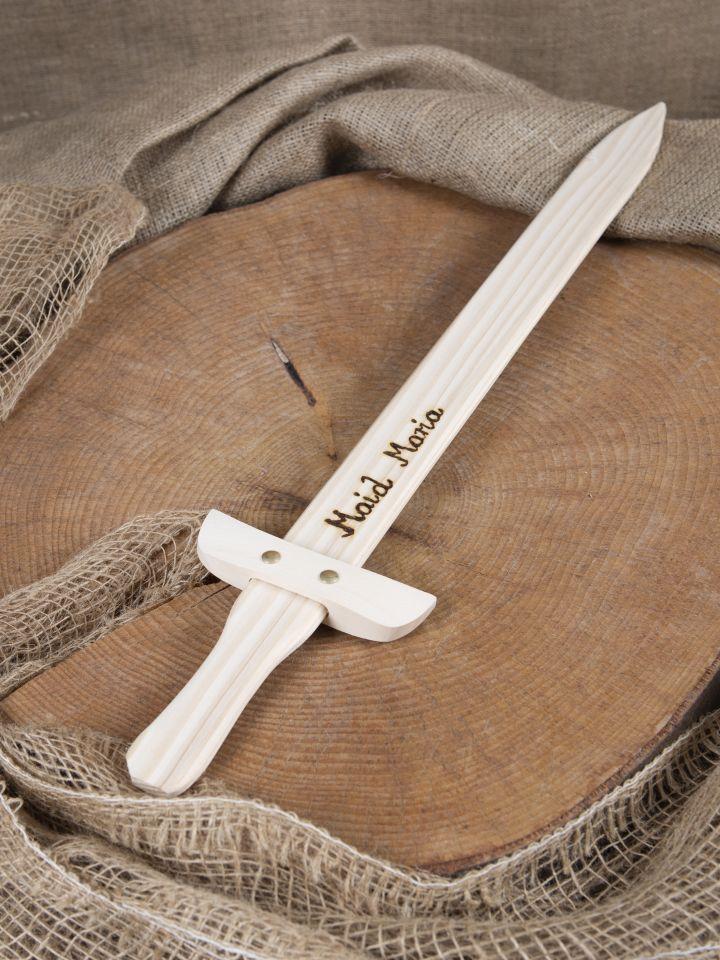 Petite épée en bois avec gravure personnalisable 3