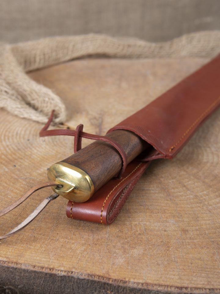 Couteau médiéval avec manche en bois fourreau en cuir inclus 3